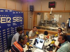 Foto de: La Gazpachería Andaluza. (20/06/2014) En el programa Hoy por Hoy de Radio Sevilla con Salomón Hachuel, guia el comensal, Julio Abantal y La Gazpachería Andaluza