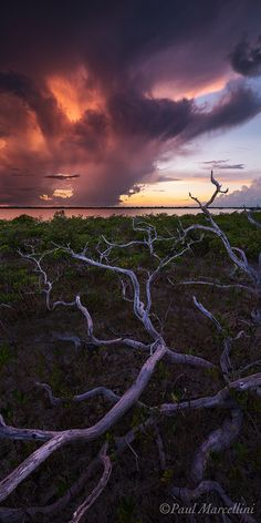 ✯ A dramatic stormy sunset in the Florida Keys