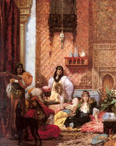 Georges-Jules-Victor CLAIRIN : The Sultans Favorites. #classic #art #painting
