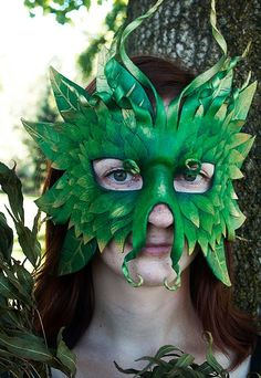 Forest Greenman Mask - MADE TO ORDER Leather Mask. $180.00, via Etsy.