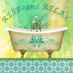 I uploaded new artwork to plout-gallery.artistwebsites.com! - 'Rest and Relax Bath Art' - http://plout-gallery.artistwebsites.com/featured/rest-and-relax-bath-art-jean-plout.html via @fineartamerica