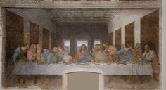 La ültima Cena 1495 - 1497 Pintura al fresco 460 x 880 cm Santa María de las Gracias, Milán