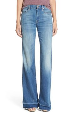7 For All Mankind® 'Ginger' Released Hem Flare Jeans (Bright Light/Broken Twill) available at #Nordstrom