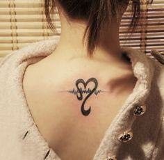 RN Nurse Tattoos   and pulse #tattoo on the back love this idea for finishing nursing ...