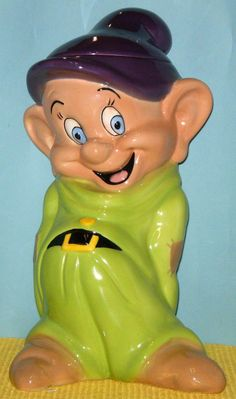 cookie jars disney | 421: DISNEY DOPEY COOKIE JAR, BY TREASURE CRAFT Manufa : Lot 421