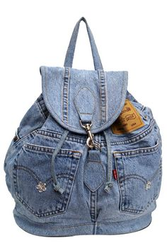 Blue Denim Fashion Backpack  DMB003