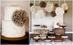 Neutral colors a baby shower or wedding shower