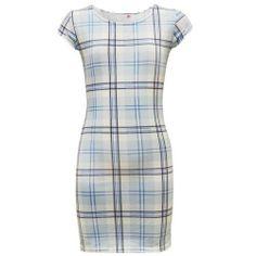 Dress Blue Checked Tartan Short Sleeve Girls Midi Age 7-8 9-10 11-12 13 New