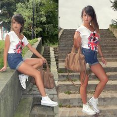 Rolling stones t-shirt* (by Alexandra M) http://lookbook.nu/look/2878749-rolling-stones-t-shirt