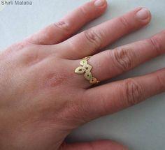 14k Gold Celtic Wedding Ring solid gold ring gold celtic