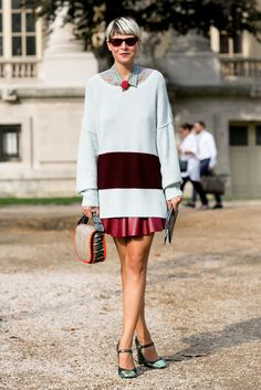 Elisa Nalin did preppy-cum-ladylike, with just the right amount of whimsy.  Image Source: IMAXTREE / Vincen...