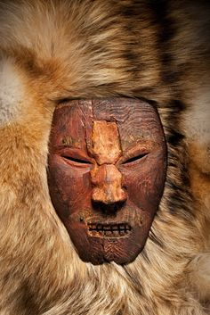 Viking mask (989-1020 AD) found on the Baffin Island coast. Photo by David Coventry. There is an intriguing story attached to this picture ...