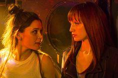 Bella Dayne and Emily Berrington in Humans (2015)