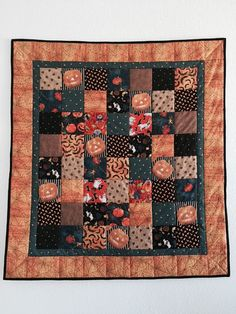 Halloween Quilt Holiday quilts Pieced baby by GotBabyGetQuilt