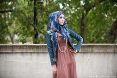 Denim jacket love the Hajabs ❤❤❤