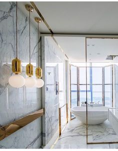 Modern Bath  #marble #moderndesign #bathroom