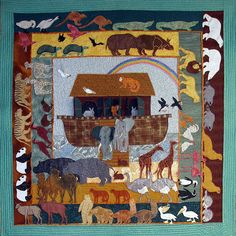 Noah's Ark, Machine Applique Pattern by Debora Konchinsky, Critter Pattern Works
