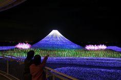 kuwana light festival volcano - Google Search
