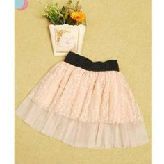 $6.38 Women's Skirt With Elastic Waist and Splicing Lace Design