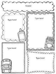 Preschool Valentine's Day, February Newsletter Template
