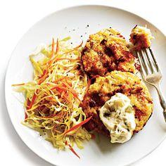 Cajun Crab and Quinoa Cakes by Mark Bittman, cookinglight #Crab_Cakes #Quinoa