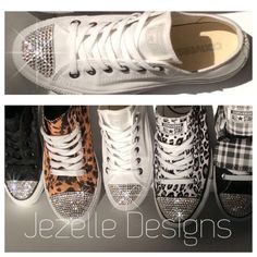 Items similar to Custom Order Swarovski Crystal Hand Jeweled Bedazzled  Converse - Prices vary w  style   size - See Individual Listings - Jezelle  Designs on ... a469ab0d8a