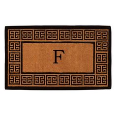 Home & More Olympus Handwoven Monogram Indoor/Outdoor Doormat - 180092436F