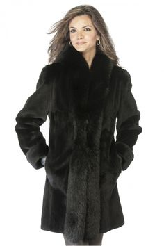 Luxury with a practical side, the Sheared Mink Fur Fox Border Reversible Coat…