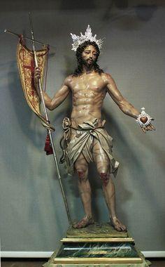 Cristo Resucitado, obra de Francisco Romero Zafra para Icod de los Vinos, Parroquia de San Marcos evangelista. Santa Cruz de Tenerife. 2014. https://www.facebook.com/EscultoresEImaginerosYSusObras/