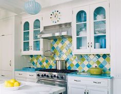 colorful tilework in