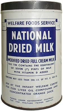 Old National Dried Milk Can. This is what we made our Tin can Stilts from................