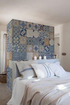 papel pintado con azulejos árabes