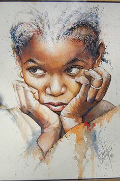 Little Girl with Braids by Bob Graham.