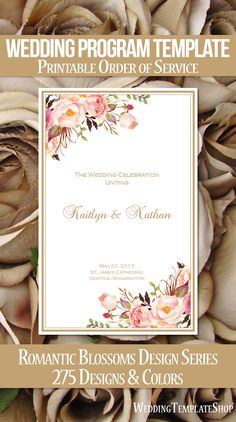 Catholic Church Wedding Program Carmella Gold