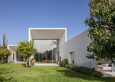 Paritzki & Liani's T/A House is made from three white boxes