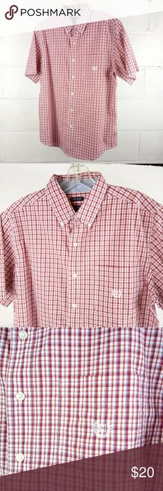 Chaps Easy Care Casual Shirt Size M Red Gently pre-owned clean excellent condition. May have signs of normal wear, but do not have rips or holes (unless made that way).   See photos above for actual details and the MEASUREMENTS & SIZING CHART to answer your Sizing Questions.  We do our best to maintain quality standards during inspection before listing items for sale in our closet, so you are happy to open your Poshmark package from Shebrew Trading Store!  We ship items immediately and…