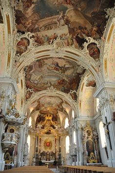 A small church in Innsbruck, Austria - one of the most beautiful church interiors I've ever seen!