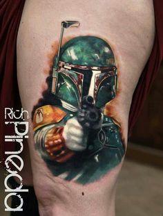 Amazing star wars boba fett tattoo. sullen artist rich pineda