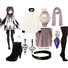 """""""homura akemi"""" by katewithpaint on Polyvore"""