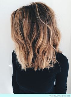 Lovely blonde lob with beachy waves