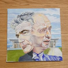 """""""Rotation"""", Portrait of PM Naftali Benet and VPM Yair Lapid. By Roee Lavan Oil on canvas, 30x30cm, June 2021 Oil On Canvas, June, Portrait, Painting, Art, Art Background, Headshot Photography, Painting Art, Kunst"""