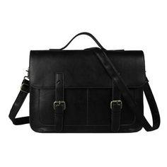e8fde1be0f88 Men s Elegant Leather Briefcase Laptop Bag