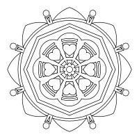 Design, Print and Color FREE mandalas online