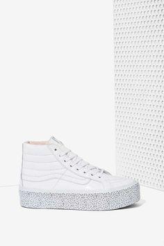 Nasty Gal x Vans Step Up Sk8-Hi Leather Platform SneakerSellers Tenis Con  Plataforma 8d0aaab8d2c