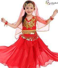 Pinkvanille.ch Bauchtanzkostüm Orientalischer Tanz Kostüm Kinderkostüm Prinzessinnenkleid