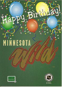 minnesota wild happy birthday greeting card products pinterest