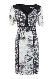 Multi Print Shift Dress The price is £129.00.