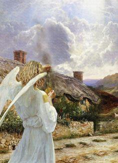 Un Angel bendiciendo y protegiendo un hogar MMVIII