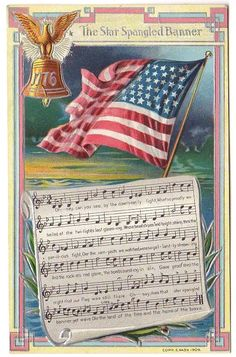 Holiday Postcards, Vintage Postcards, Postcard Album, National Songs, Patriotic Images, Star Spangled Banner, Embossed Paper, Christmas Post, Fourth Of July