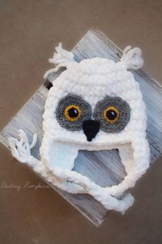 Crochet Hedwig Snowy owl inspired hat all sizes